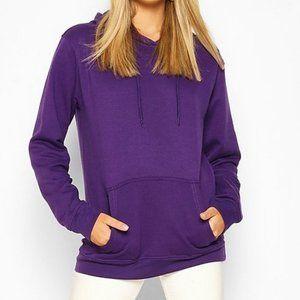 Boohoo Size 6 Purple Back Print Slogan Hoodie NEW